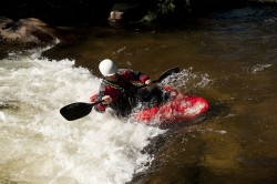 High-Speed Flash Photography. Lyons, CO. Kayaking on the St. Vrain river.