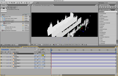 Vector Graphics- 3D Depth with 2D Layers in After Effects