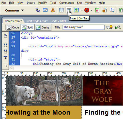 Creating a Navigation Bar with CSS in Dreamweaver - Layers Magazine