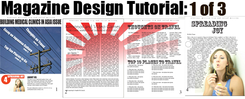 Magazine Design with InDesign Part 1 of 3