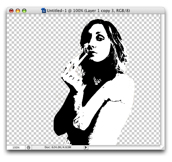 Creating a Layered Threshold Effect in Photoshop - Layers