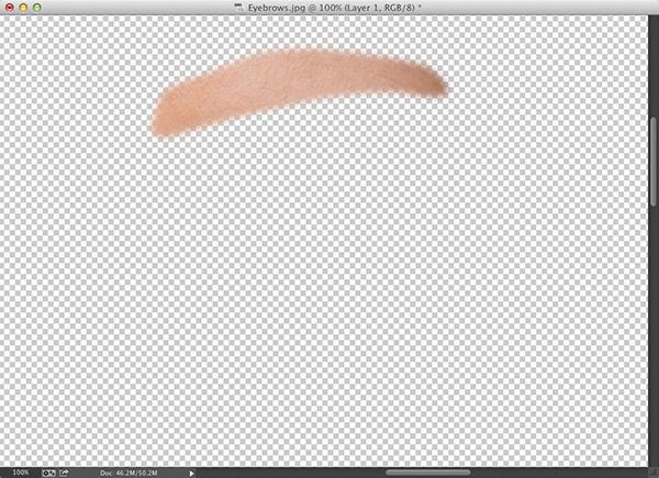 Делаем ровные брови в Фотошоп