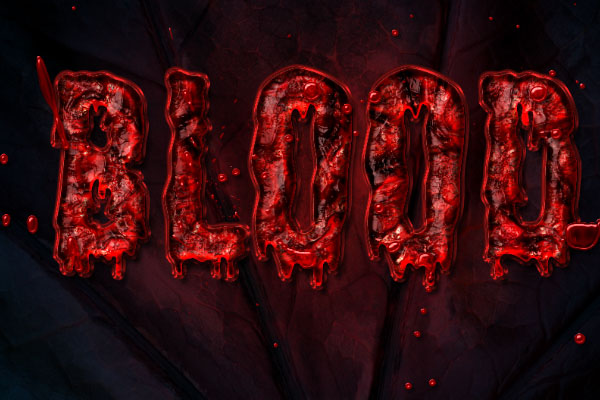 Bloody Text Effect